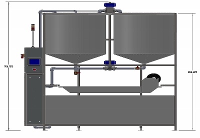 ARS1000 Water Recycling System Front Dimensions
